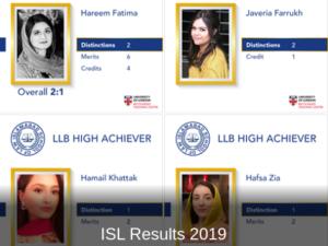 ISL Results 2019